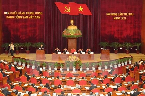 越共第十二届中央委员会第二次全体会议在河内开幕 hinh anh 1