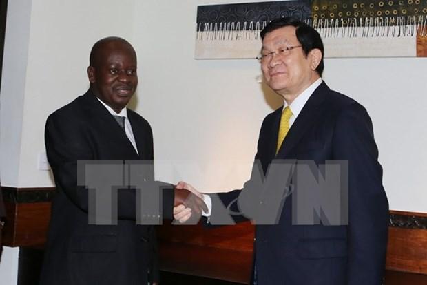 越南国家主席会见坦桑尼亚国民议会议长 hinh anh 1