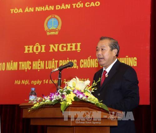越南各级人民法院积极主动实施《反腐败法》 hinh anh 1