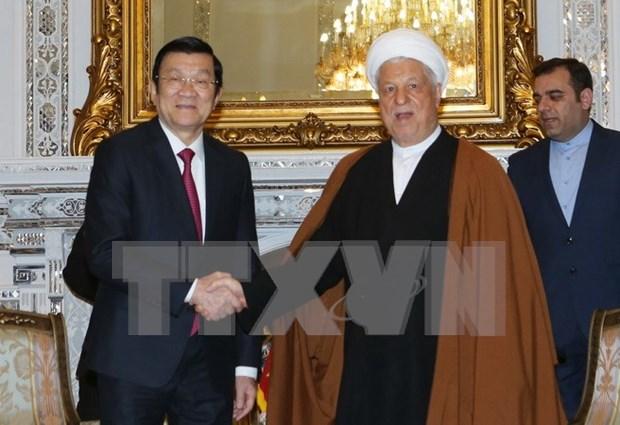 越南国家主席张晋创会见伊朗议会议长和专家会议主席 hinh anh 1