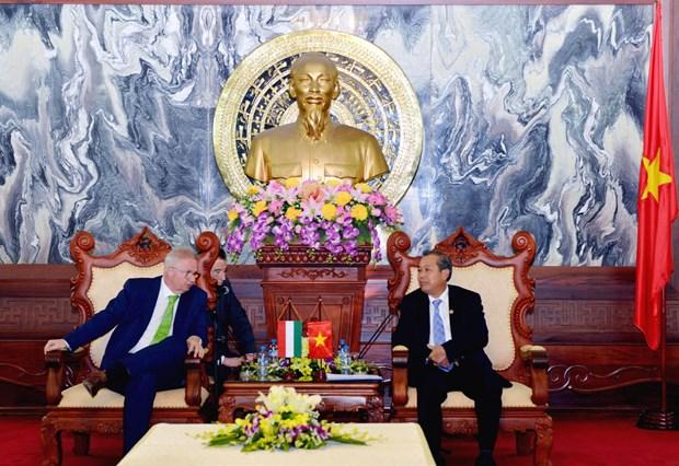 越南最高人民法院院长会见匈牙利司法部部长 hinh anh 1