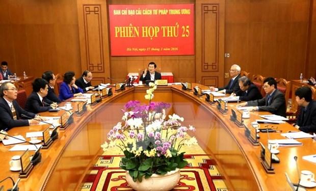 越南司法改革指导委员会召开第25次会议 hinh anh 1