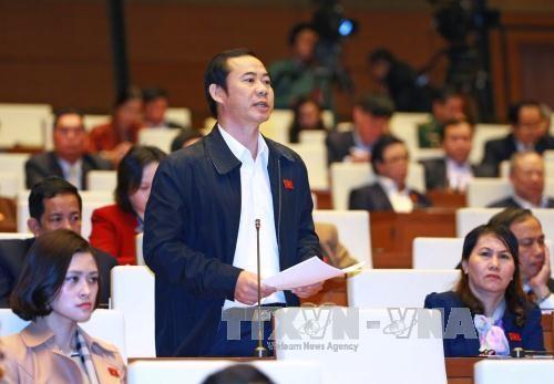 第十三届国会十一次会议:代表们高度评价国家主席和政府总理及司法机构的工作结果 hinh anh 1