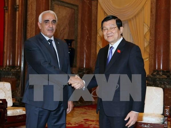 越南国家主席张晋创会见阿尔及利亚最高法院第一院长 hinh anh 1