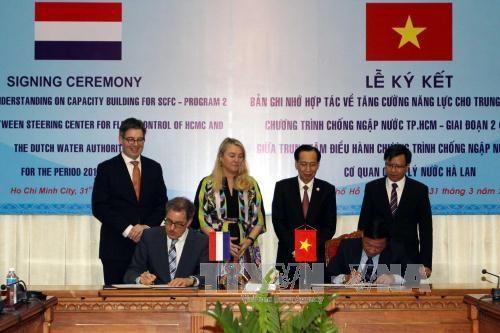 越南胡志明市与荷兰为应对气候变化展开合作 hinh anh 1
