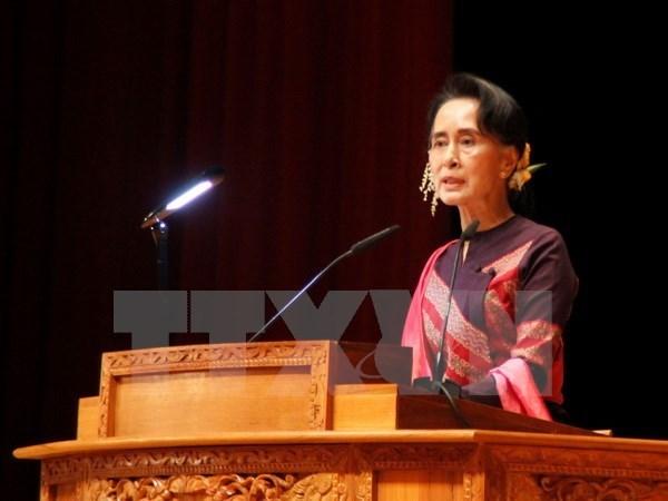 缅甸总统提名新部长分担昂山素季兼任的两部 hinh anh 1