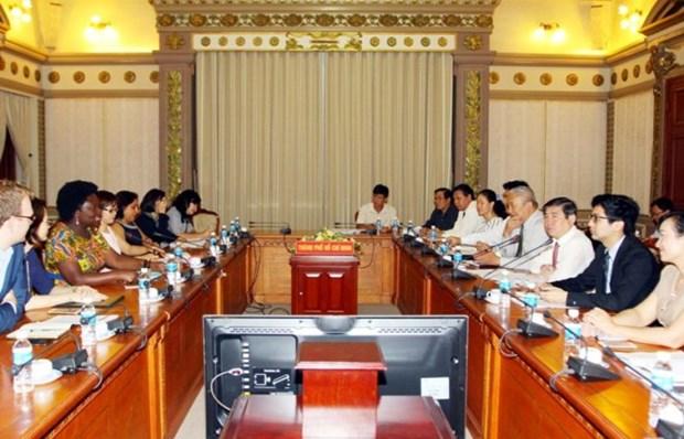 世行继续向胡志明市提供援助 用于基础设施建设 hinh anh 1