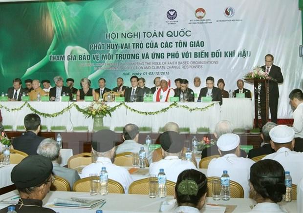 越南祖国阵线中央委员会主席阮善仁:环保工作必须依靠群众 hinh anh 1