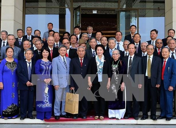 越南国会主席阮氏金银会见太平省退休中高级干部代表团 hinh anh 1