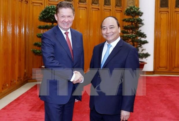 阮春福总理会见俄罗斯天然气工业股份公司总裁米勒 hinh anh 1