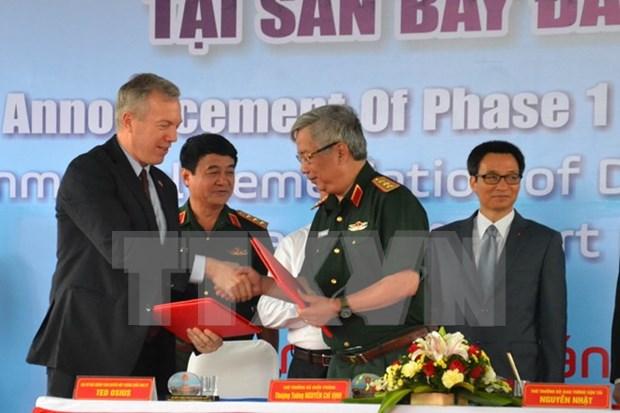 越南岘港国际机场迪奥辛污染清除项目成功开展 hinh anh 1