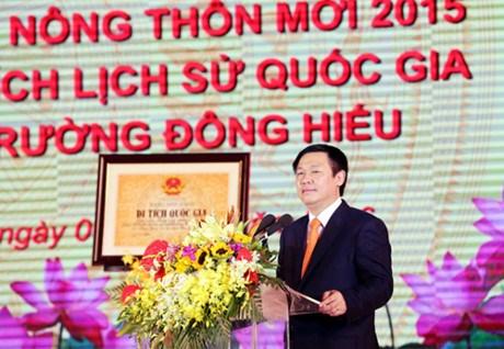 越南政府副总理王庭惠:建设新农村已经成为强大而广泛的运动 hinh anh 1