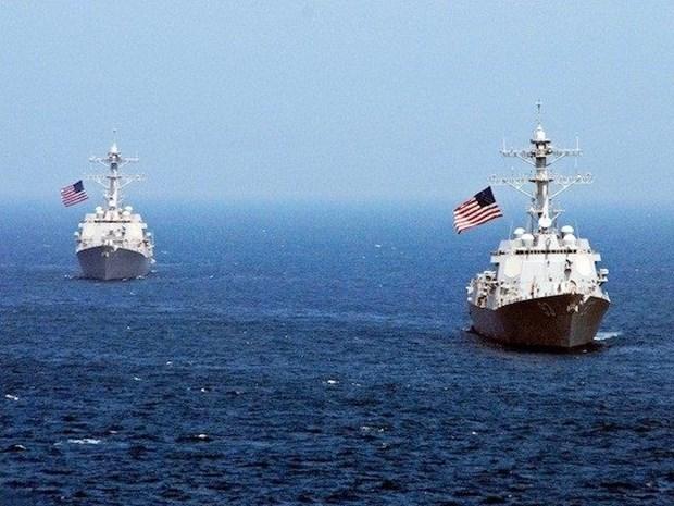 美国军舰接近东海十字礁 hinh anh 1