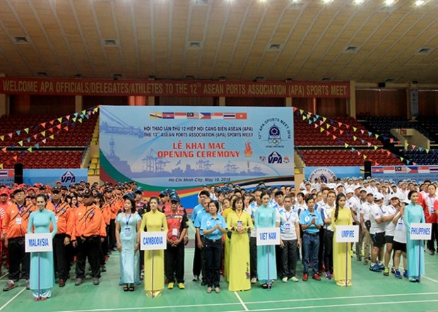 第12届东盟港口协会体育运动会在胡志明市开幕 hinh anh 1