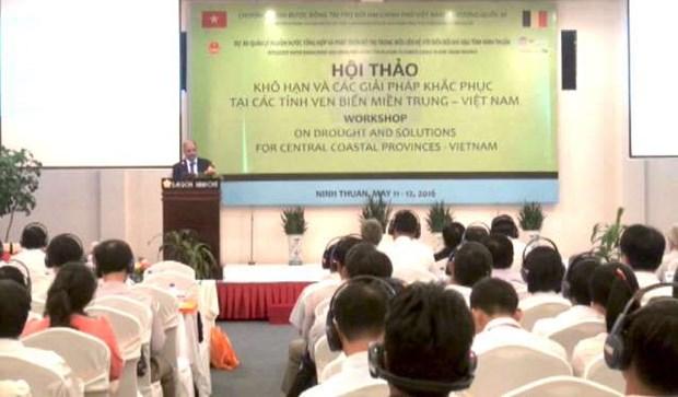 比利时协助越南中部沿海省份采取应对干旱的长效措施 hinh anh 1