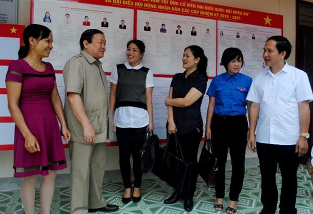 选举日临近:越南最北端地区选民对选举日充满期待 hinh anh 1