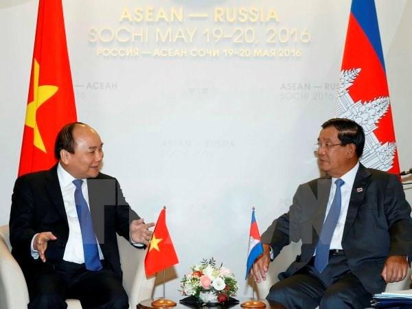 越南政府总理阮春福会见出席俄罗斯—东盟峰会的各国领导人 hinh anh 1