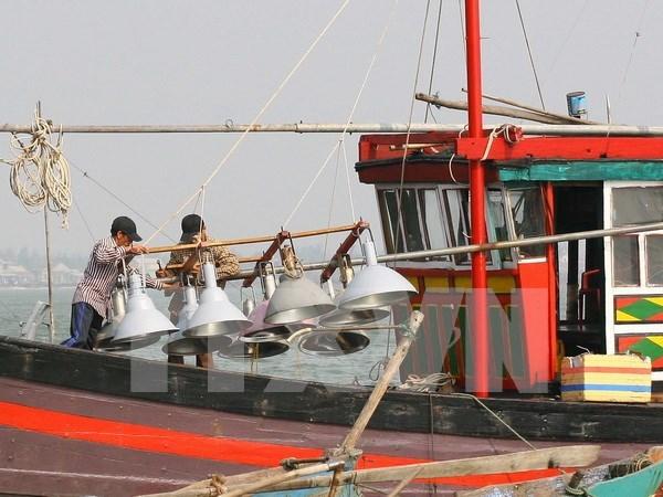 越南广义省渔民继续在传统渔场进行捕捞作业 hinh anh 1