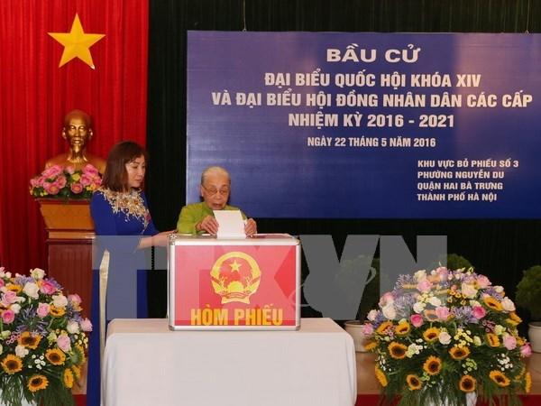 越南全国选民对选举取得圆满成功充满信心 hinh anh 1