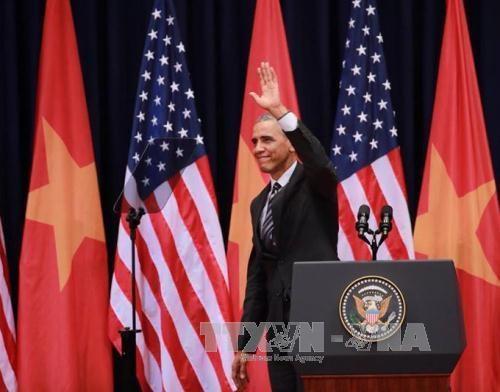 美国总统奥巴马在越南国家会议中心发表的重要演讲 hinh anh 1