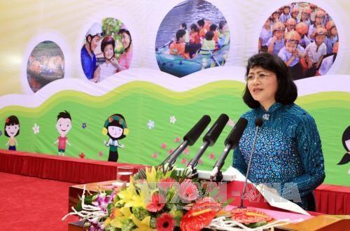 2016年国家儿童行动月在广宁省正式启动 hinh anh 1