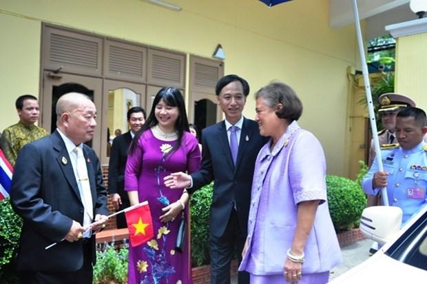越泰建交40周年:泰国公主探访越南驻泰大使馆 hinh anh 1