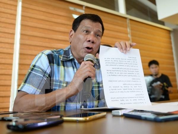 菲律宾新总统杜特尔特公布内阁成员名单 hinh anh 1