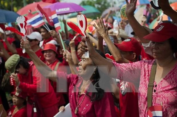 """泰国""""红衫军""""开设新宪法公投监督中心 hinh anh 1"""