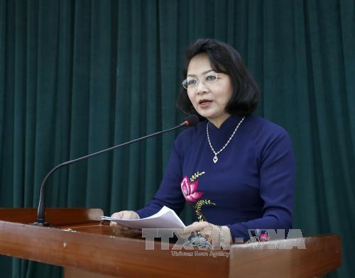 越南国家副主席邓氏玉盛:创新爱国竞赛运动的宣传方式 hinh anh 1