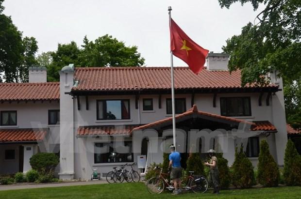 """设在加拿大的""""越南屋""""颇受游客的关注 hinh anh 1"""