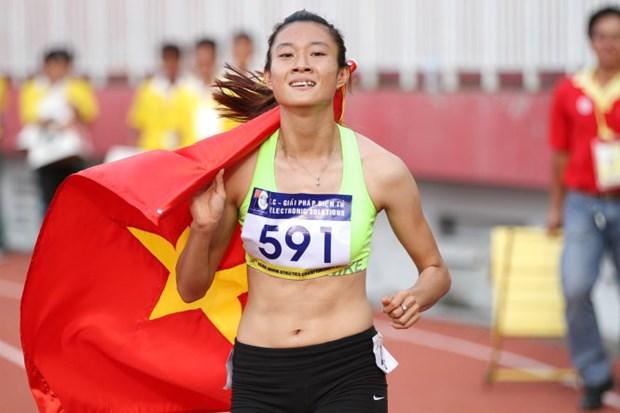 第17届亚洲青年田径锦标赛:越南运动员黎秀征夺得200米短跑金牌 hinh anh 1