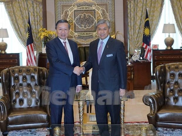 越南公安部部长苏林对马来西亚进行工作访问 hinh anh 1