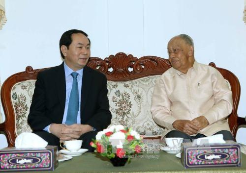 越南国家主席陈大光结束对老挝的国事访问 hinh anh 1