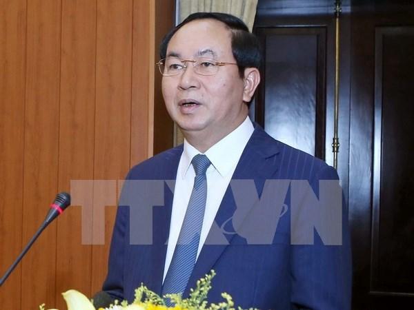 柬埔寨光纤通信网:越南国家主席陈大光访柬之旅进一步增进越柬传统合作关系 hinh anh 1