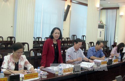 越共中央民运部部长张氏梅赴北江省调研 hinh anh 1