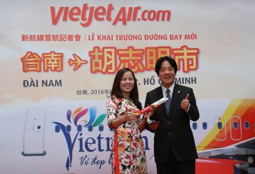 越捷航空公司开通胡志明市飞至台南市直达航线 hinh anh 1