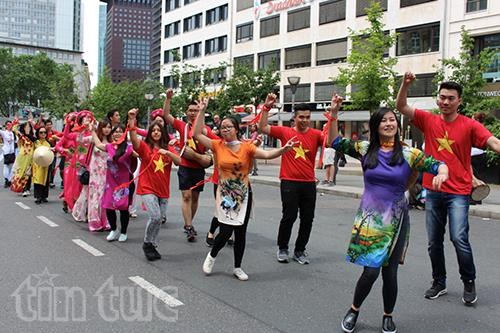旅居德国越南人参加法兰克福多元文化节 hinh anh 1