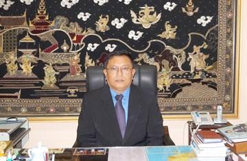 """越南向缅甸驻越大使授予""""为各民族和平友谊""""纪念章 hinh anh 1"""