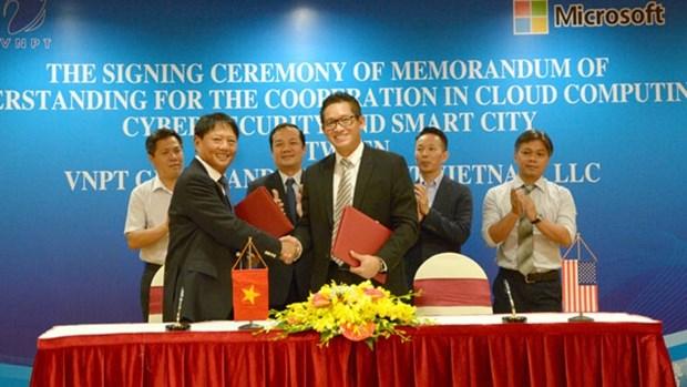 越南邮政电信集团与微软集团签署战略合作协议 hinh anh 1