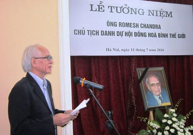 越南为世界和平理事会已故名誉主席举行悼念仪式 hinh anh 1