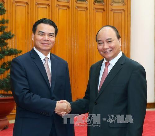 政府总理阮春福会见老挝客人 hinh anh 1