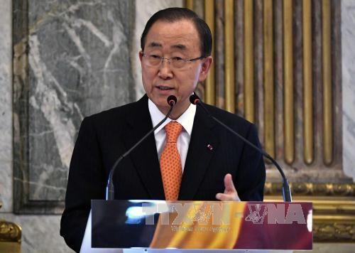 联合国秘书长潘基文呼吁东海争端有关各方遵守国际法 hinh anh 1