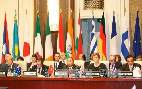 越南政府总理阮春福出席第11届亚欧首脑会议并发言 hinh anh 1