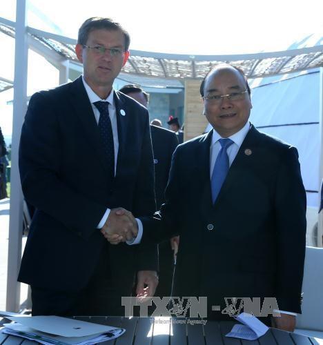 越南政府总理阮春福与斯洛文尼亚总理米罗·采拉尔举行会晤 hinh anh 1