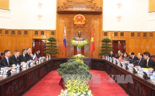 越南政府总理阮春福与斯洛伐克总理罗伯特·菲乔举行会谈 hinh anh 1
