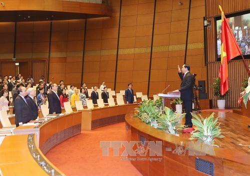 第十四届国会一次会议:陈大光主席的讲话彰显越南民族的决心和意志力 hinh anh 1