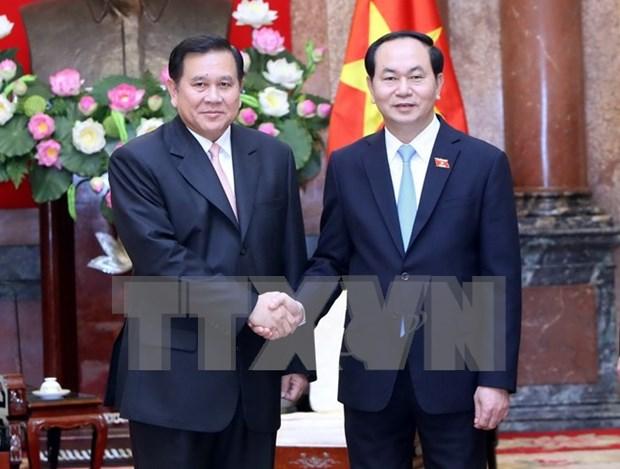 国家主席陈大光和政府副总理武德儋会见泰国副总理塔纳萨·巴迪玛巴功 hinh anh 1