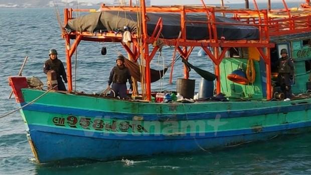 泰国海警扣留四艘越南渔船 hinh anh 1