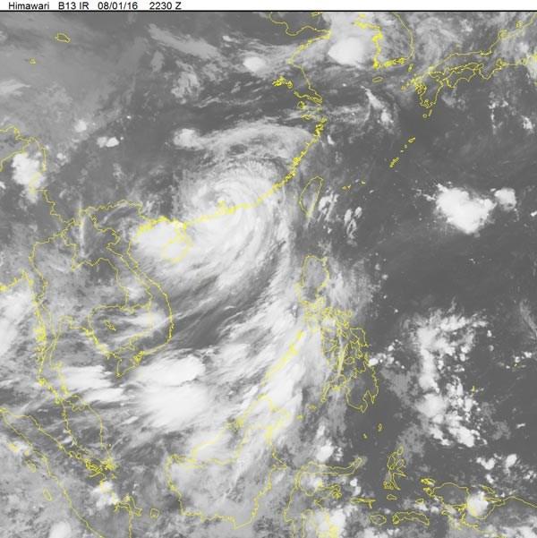 2016年二号台风会减弱为低气压 hinh anh 1