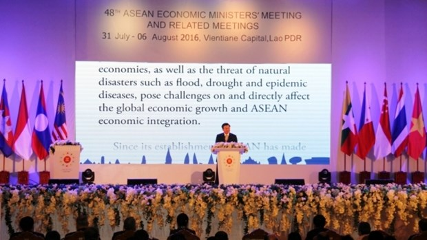 第48届东盟经济部长会议和系列会议在万象开幕 hinh anh 1